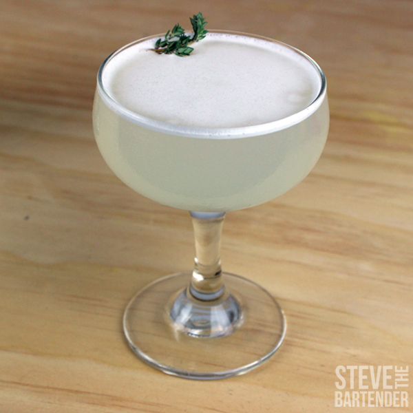 Pisco Thyme Cocktail Recipe