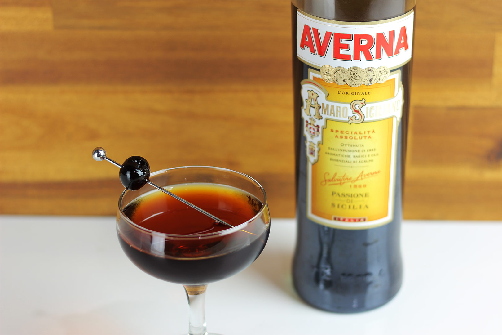 Black Manhattan Cocktail Recipe Averna Amaro Manhattan
