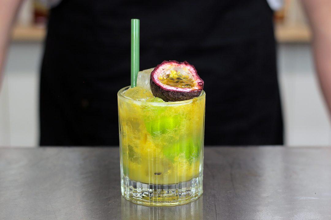 Passionfruit Mango Caipiroska